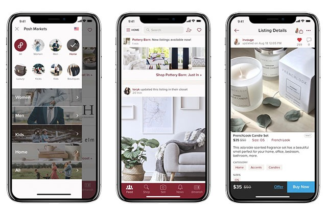 Poshmark in June launched its in-app home marketplace.