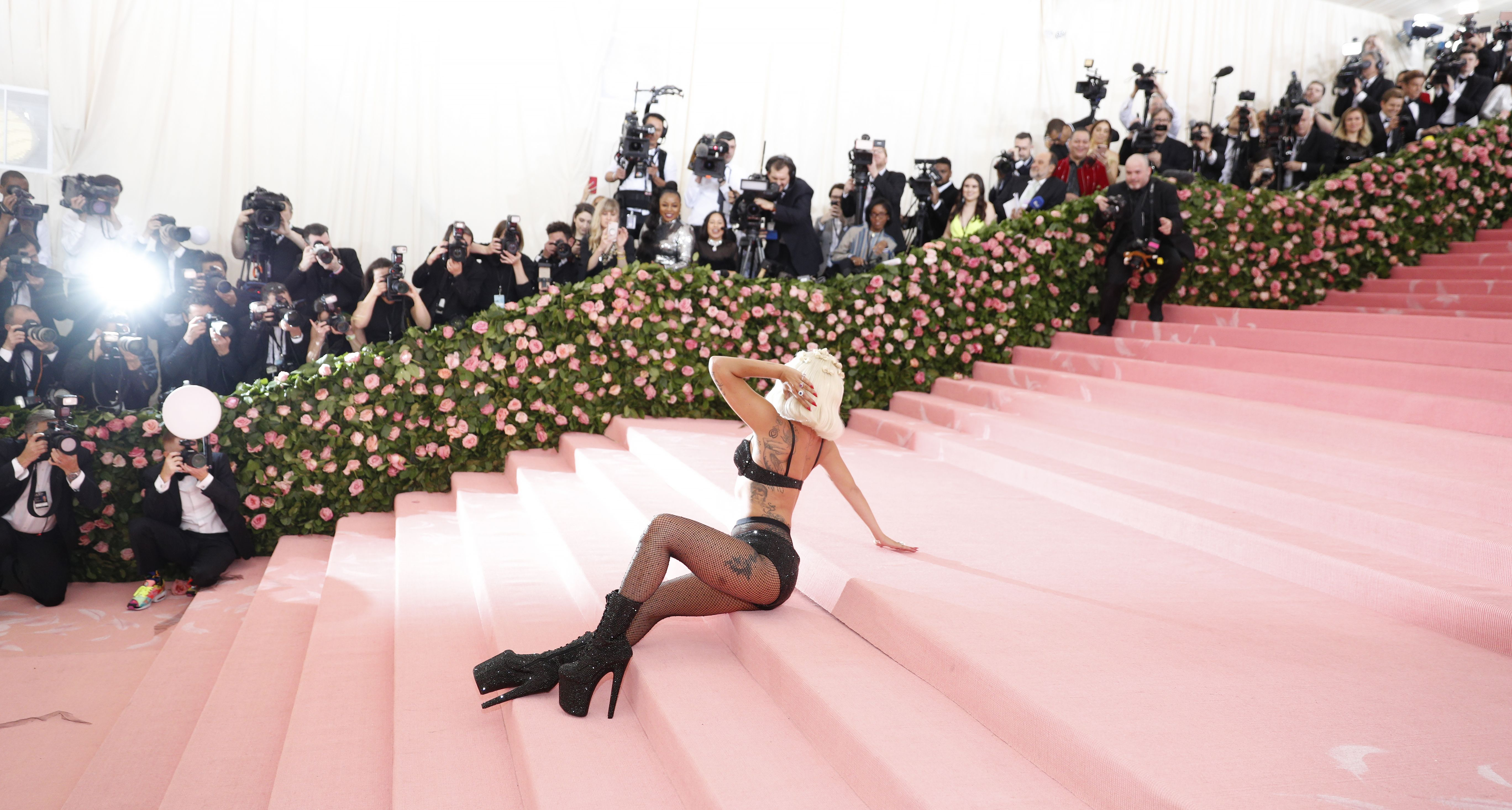 Lady Gaga arrives on the red carpet for the 2019 Met Gala, the annual benefit for the Metropolitan Museum of Art's Costume Institute, in New York, New York, USA, 06 May 2019. The event coincides with the Met Costume Institute's new spring 2019 exhibition, 'Camp: Notes on Fashion', which runs from 09 May until 08 September 2019.Costume Institute Benefit celebrating the opening of Camp: Notes on Fashion, Arrivals, The Metropolitan Museum of Art, New York, USA - 06 May 2019