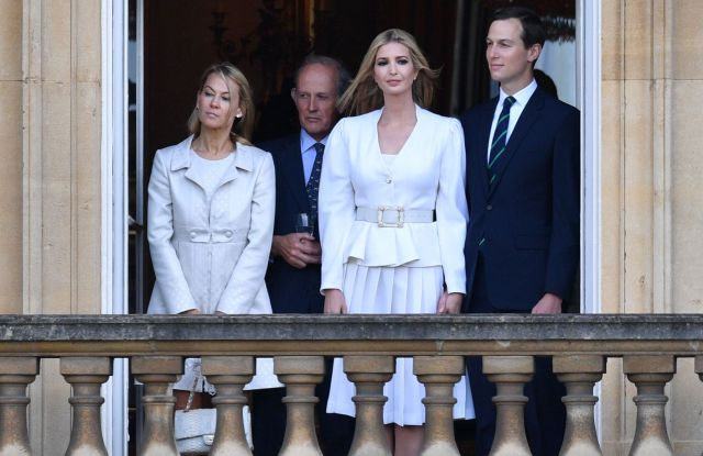 Jared Kushner and Ivanka Trump at Buckingham Palace