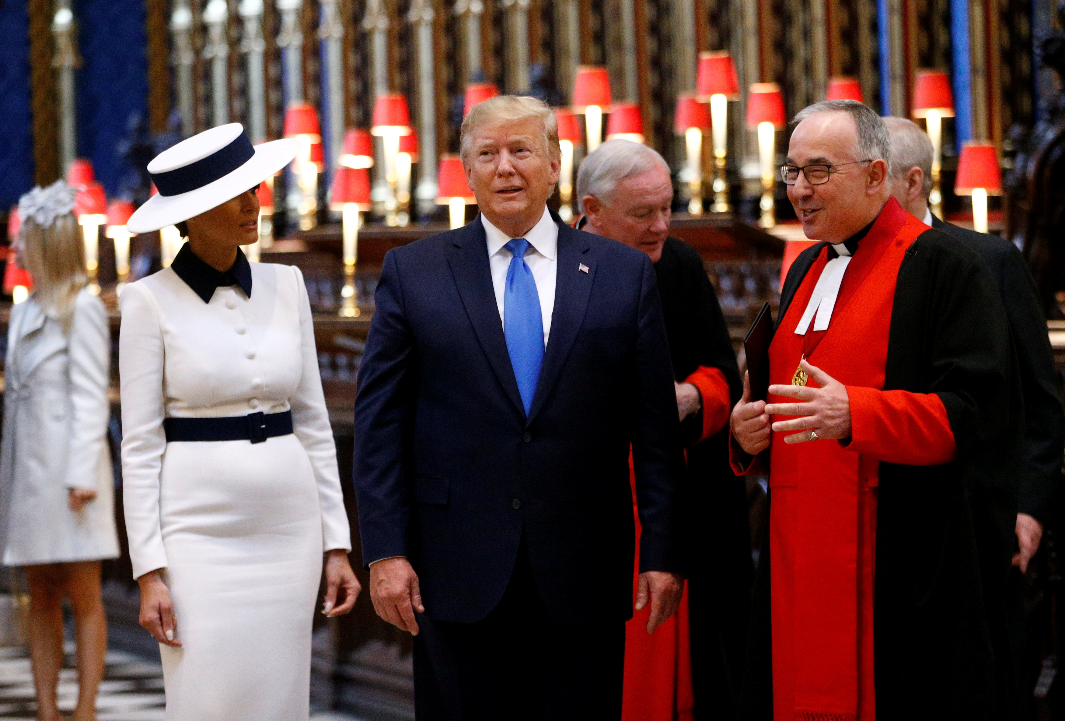 U.S. President Donald Trump and first lady Melania Trump tour Westminster Abbey US President Donald Trump state visit to London, UK - 03 Jun 2019