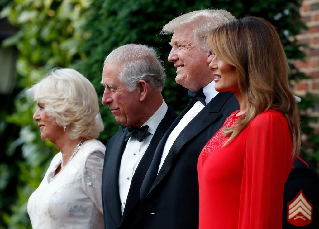 President Donald Trump and first lady Melania Trump pose for a photograph with Prince Charles, and Camilla, Duchess of Cornwall, before a reception at the U.S. ambassador's residence, in central LondonTrump, London, United Kingdom - 04 Jun 2019