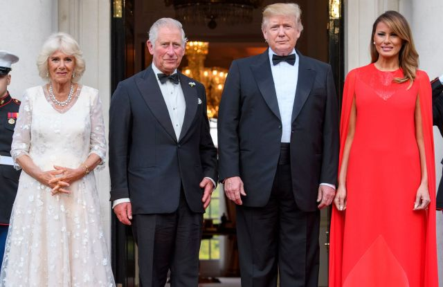 Camilla Duchess of Cornwall, Prince Charles, US President Donald Trump and First Lady Melania Trump at Winfield House the U.S. ambassador's residence in central LondonPresident Trump State visit, London, UK - 04 Jun 2019