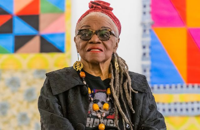 Faith Ringgold with Windows of the Wedding #9 and 3, all 1974Faith Ringgold exhibition photocall, Serpentine Gallery, London, UK - 05 Jun 2019The work of Faith Ringgold (b. 1930, Harlem, New York) is celebrated in an exhibition at the Serpentine Galleries, her first in a European institution. For more than five decades, Ringgold has challenged perceptions of African American identity and gender inequality through the lenses of the feminist and the civil rights movements.