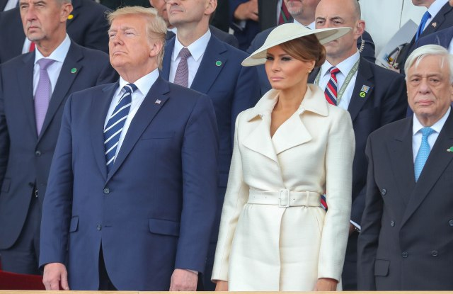 President of the United States, Donald Trump and First Lady of the United States, Melania Trump and Greek President, Prokopis Pavlopoulos75th Anniversary of D-Day, Portsmouth, UK - 05 Jun 2019