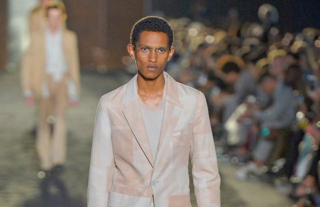Model on the catwalkErmenegildo Zegna show, Runway, Spring Summer 2020, Milan Fashion Week Men's, Italy - 14 Jun 2019