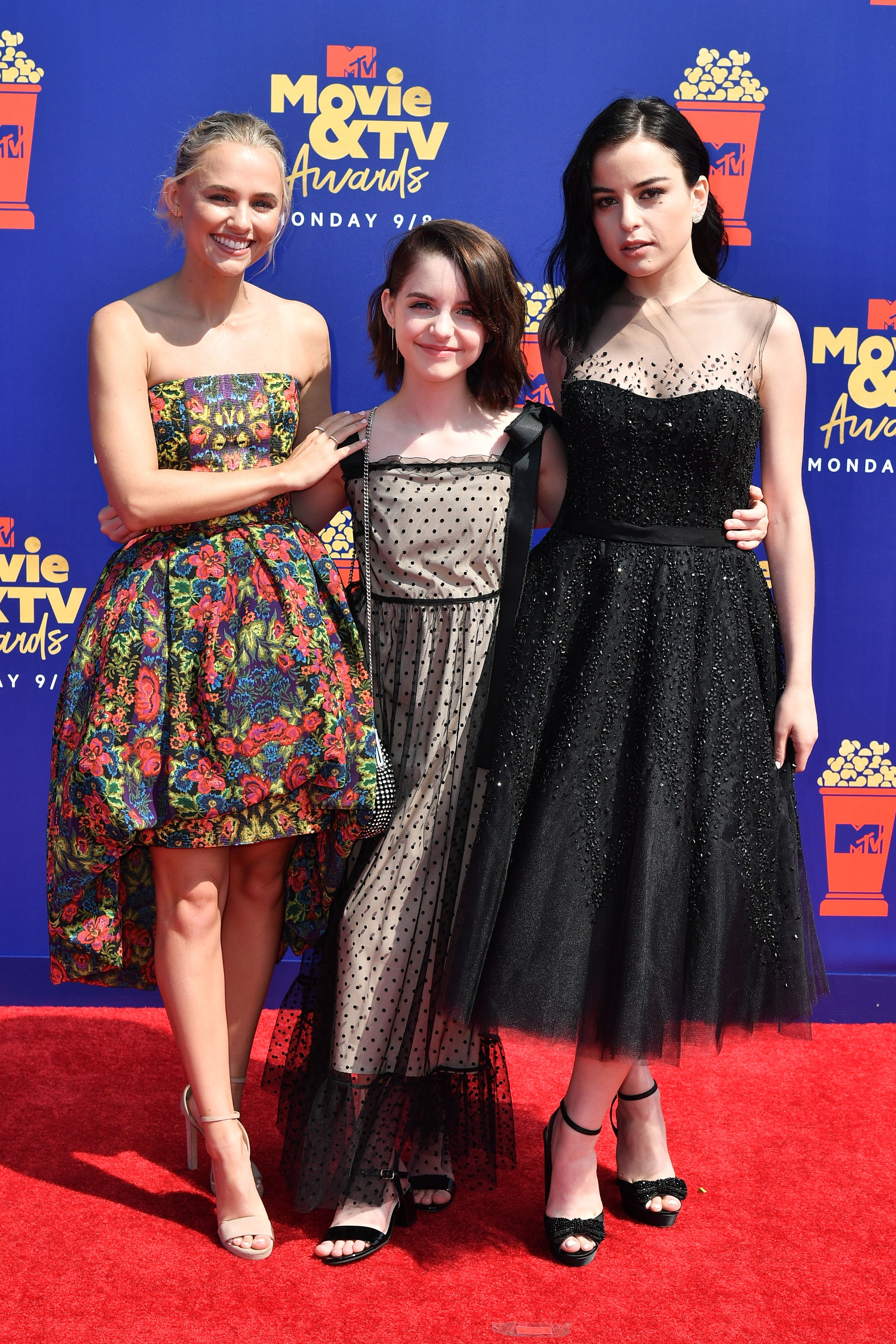 Madison Iseman, Mckenna Grace and Katie SarifeMTV Movie & TV Awards, Arrivals, Barker Hangar, Los Angeles, USA - 15 Jun 2019
