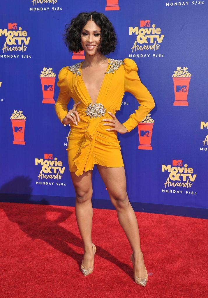 Mj Rodriguez arrives at the MTV Movie and TV Awards, at the Barker Hangar in Santa Monica, Calif2019 MTV Movie and TV Awards - Arrivals, Santa Monica, USA - 15 Jun 2019