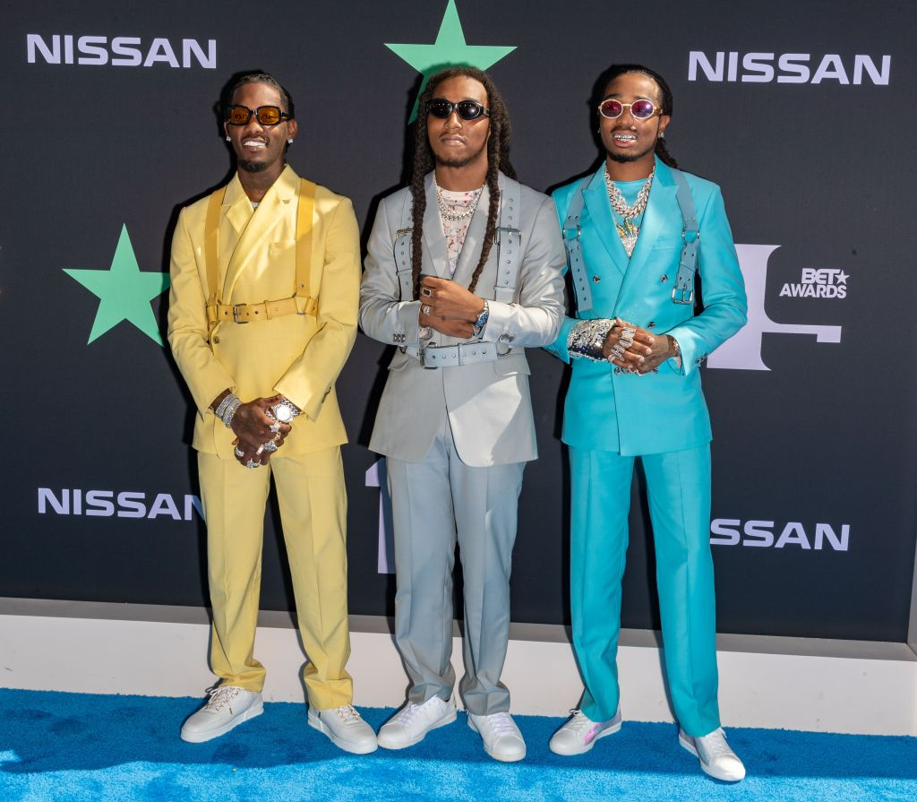 Offset, Takeoff and Quavo of MigosBET Awards, Arrivals, Microsoft Theater, Los Angeles, USA - 23 Jun 2019