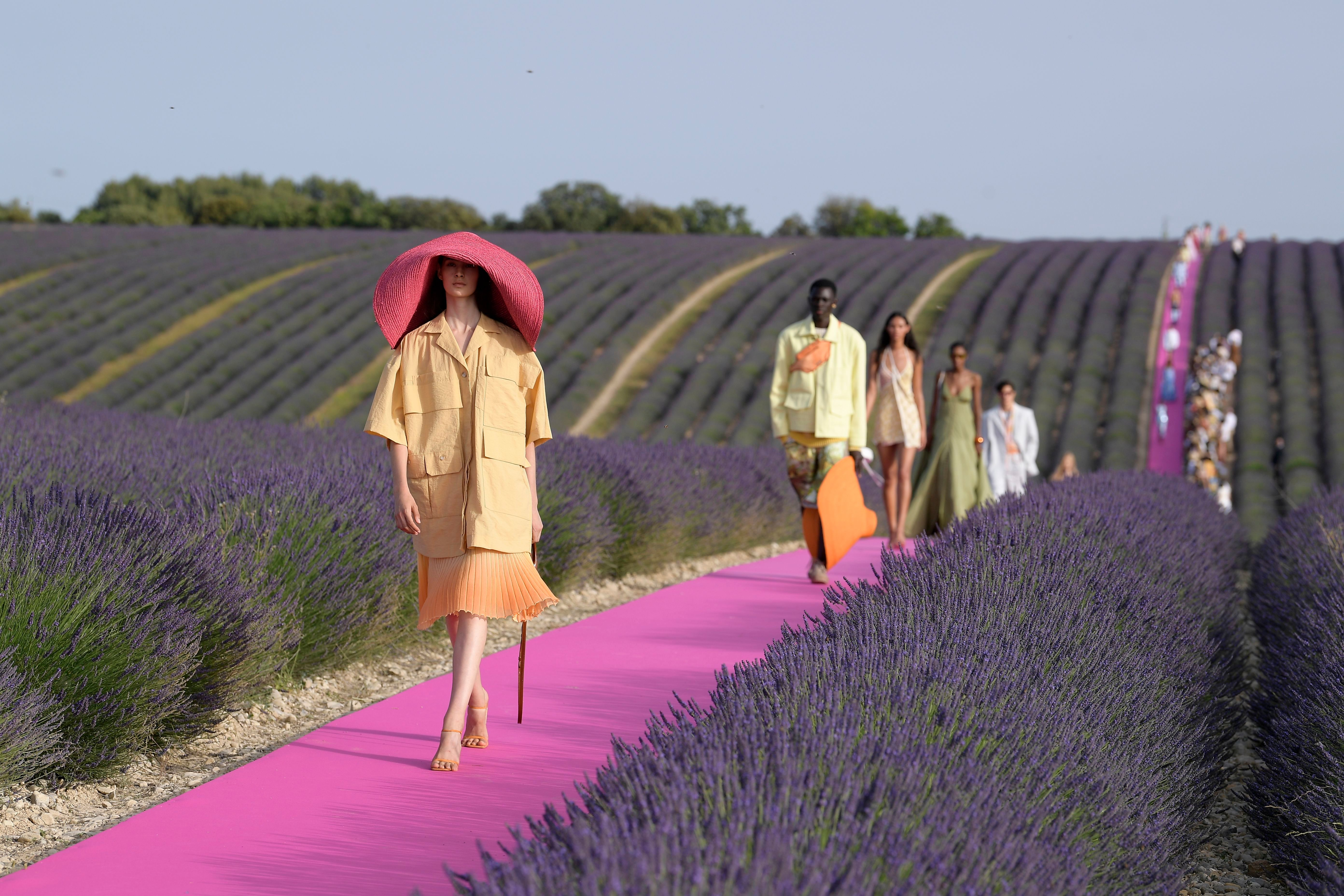 Models on the catwalkJacquemus co-ed show, Runway, Spring Summer 2020, Provence, France - 24 Jun 2019