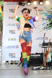 Lady Gaga participates in the second annual Stonewall Day honoring the 50th anniversary of the Stonewall riots, hosted by Pride Live and iHeartMedia, in Greenwich Village, in New York2019 Stonewall Day Honoring 50th Anniversary, New York, USA - 28 Jun 2019