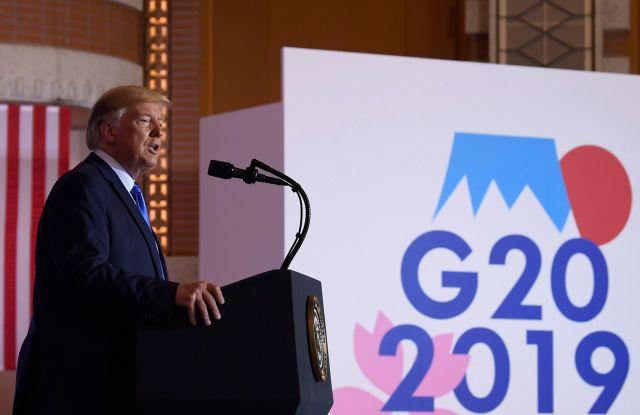 President Donald Trump speaks during a news conference following the G-20 summit in Osaka, JapanTrump G20, Osaka, Japan - 29 Jun 2019
