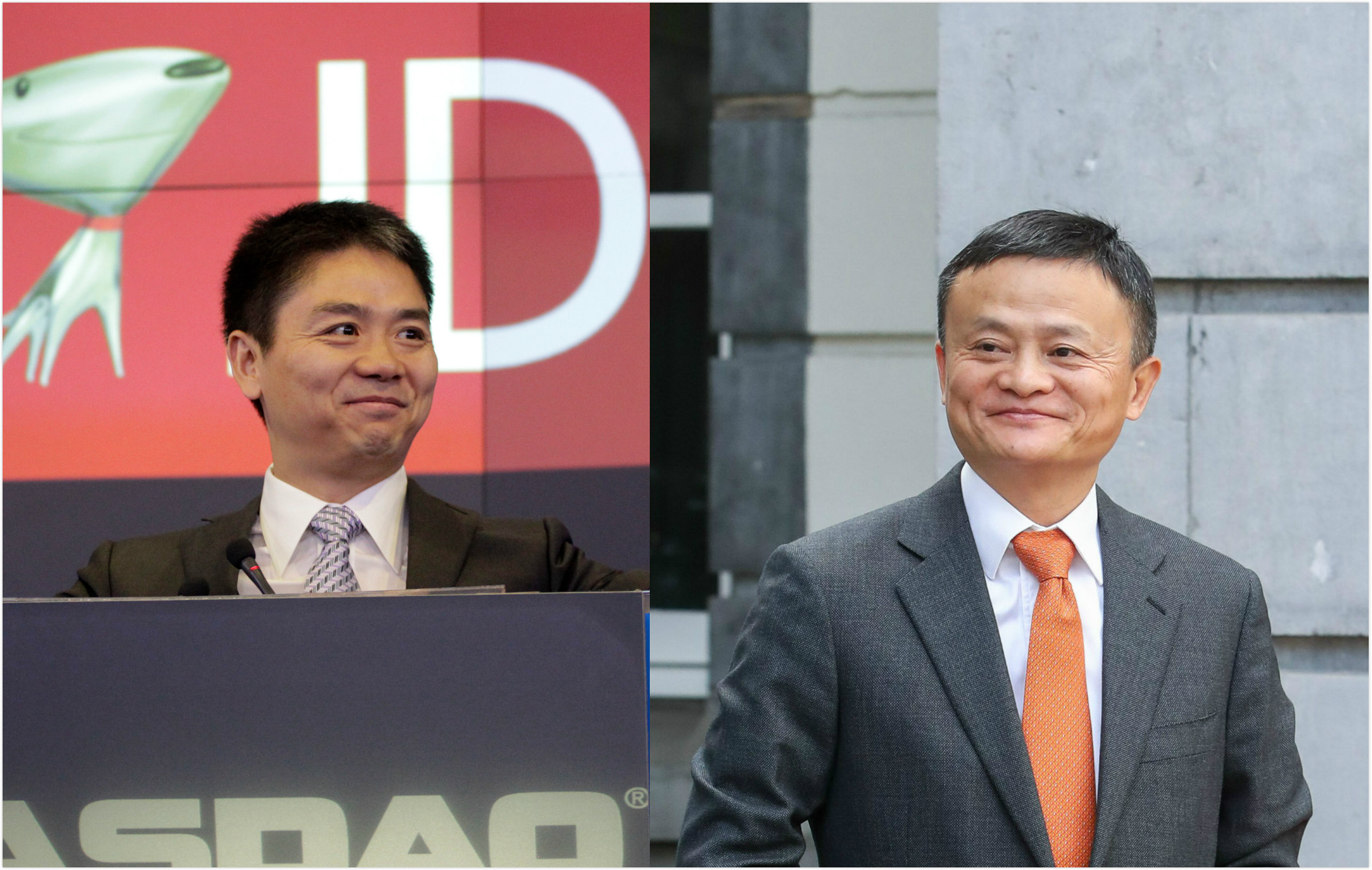 Richard Liu of JD.com and Jack Ma of Alibaba