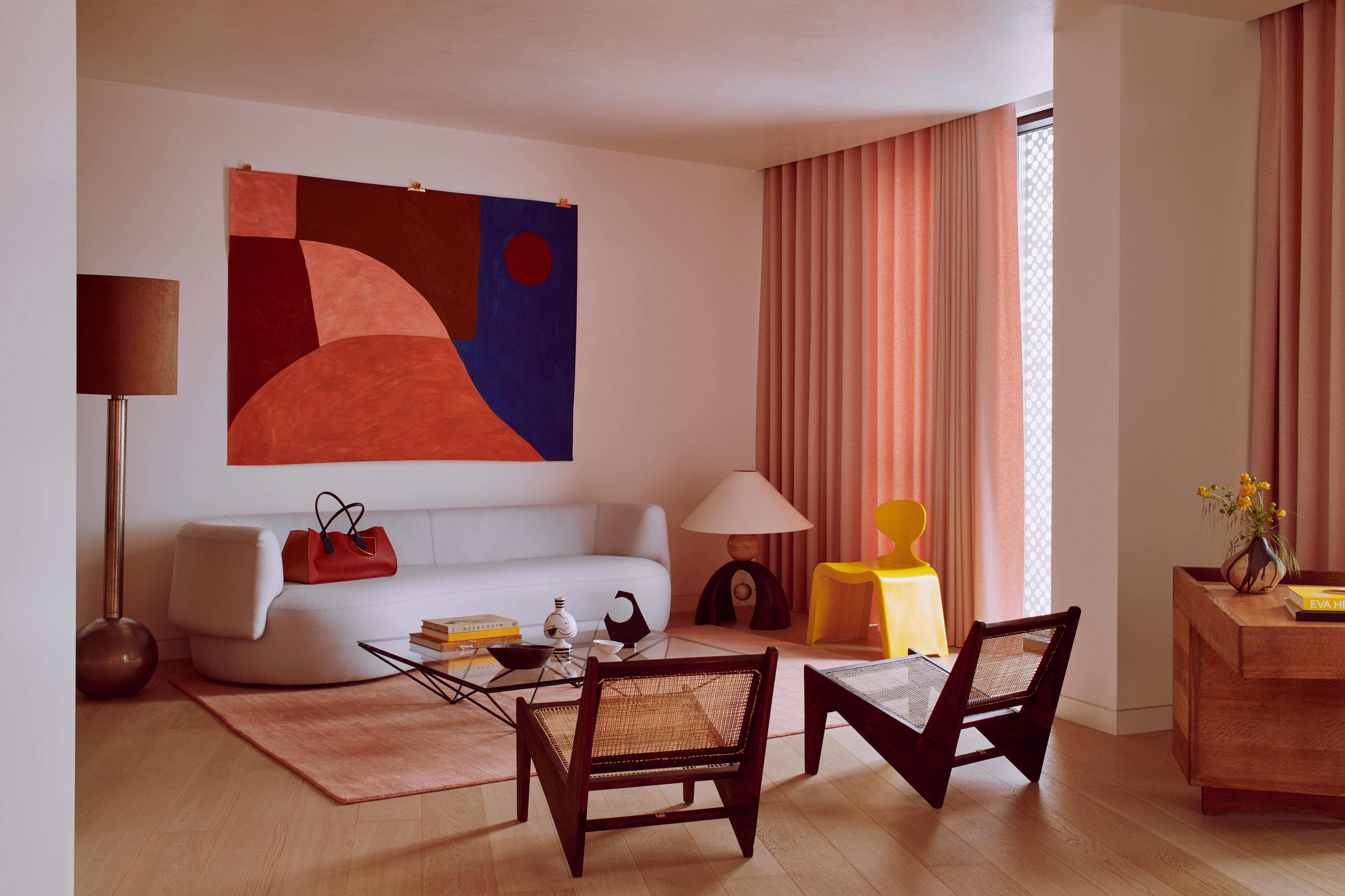 The Living Room - Roksanda designs The Penthouse at Gasholders London