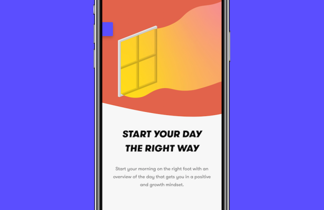 Mogul's app divides long-term goals with morning and evening ritual systems.