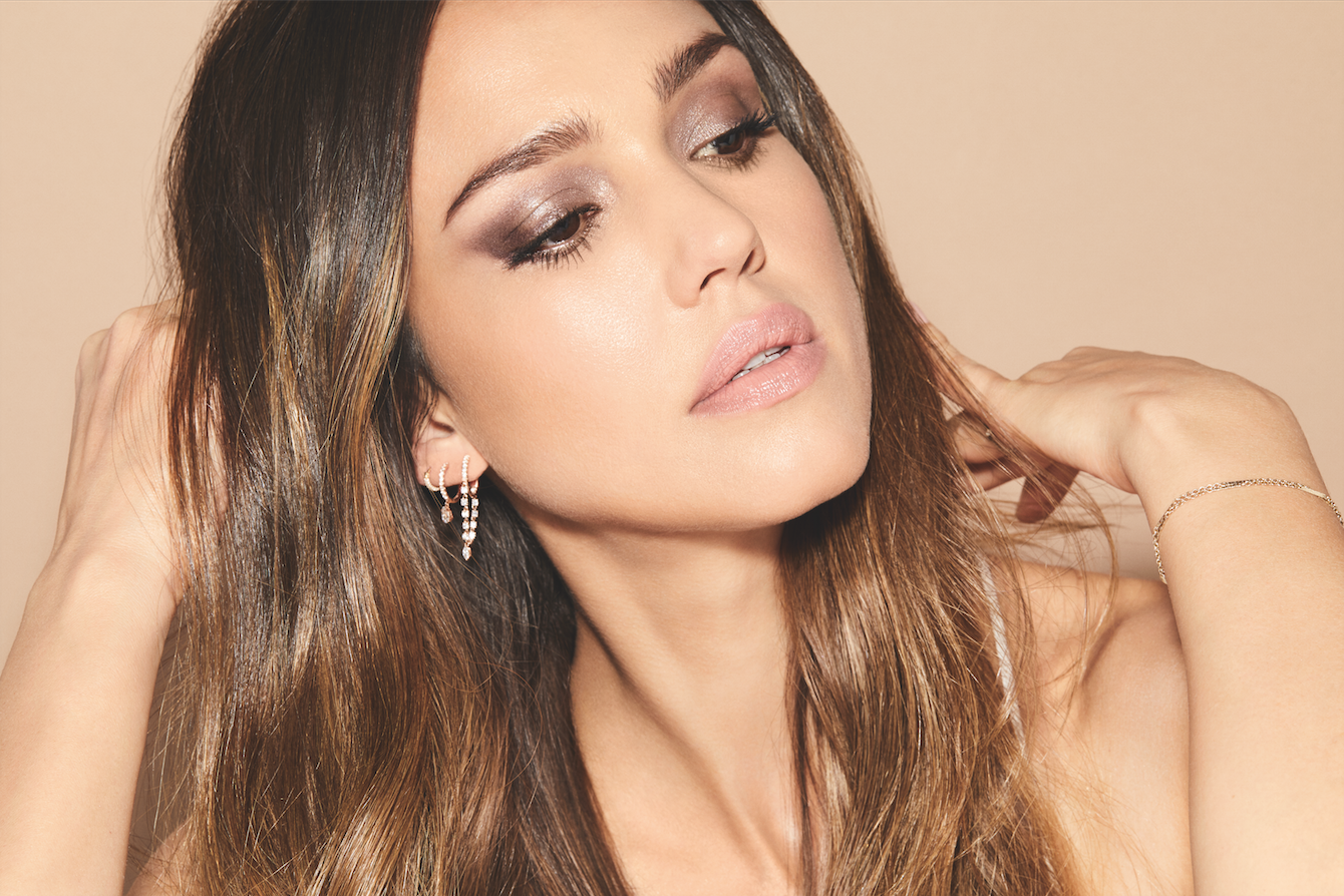 Jessica Alba in the Honest Beauty ad campaign.