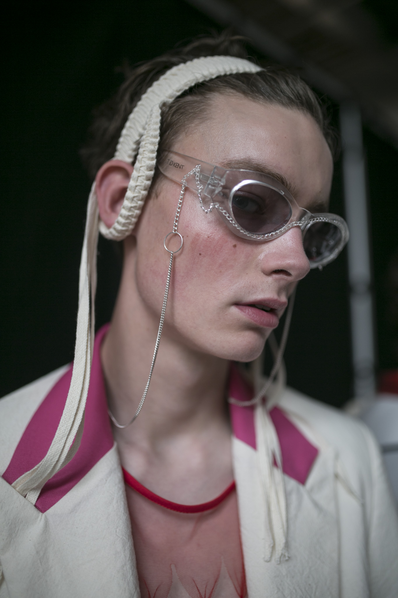 Backstage at Stefan Cooke Men's Spring 2020 photographed in London on 09 June 2019