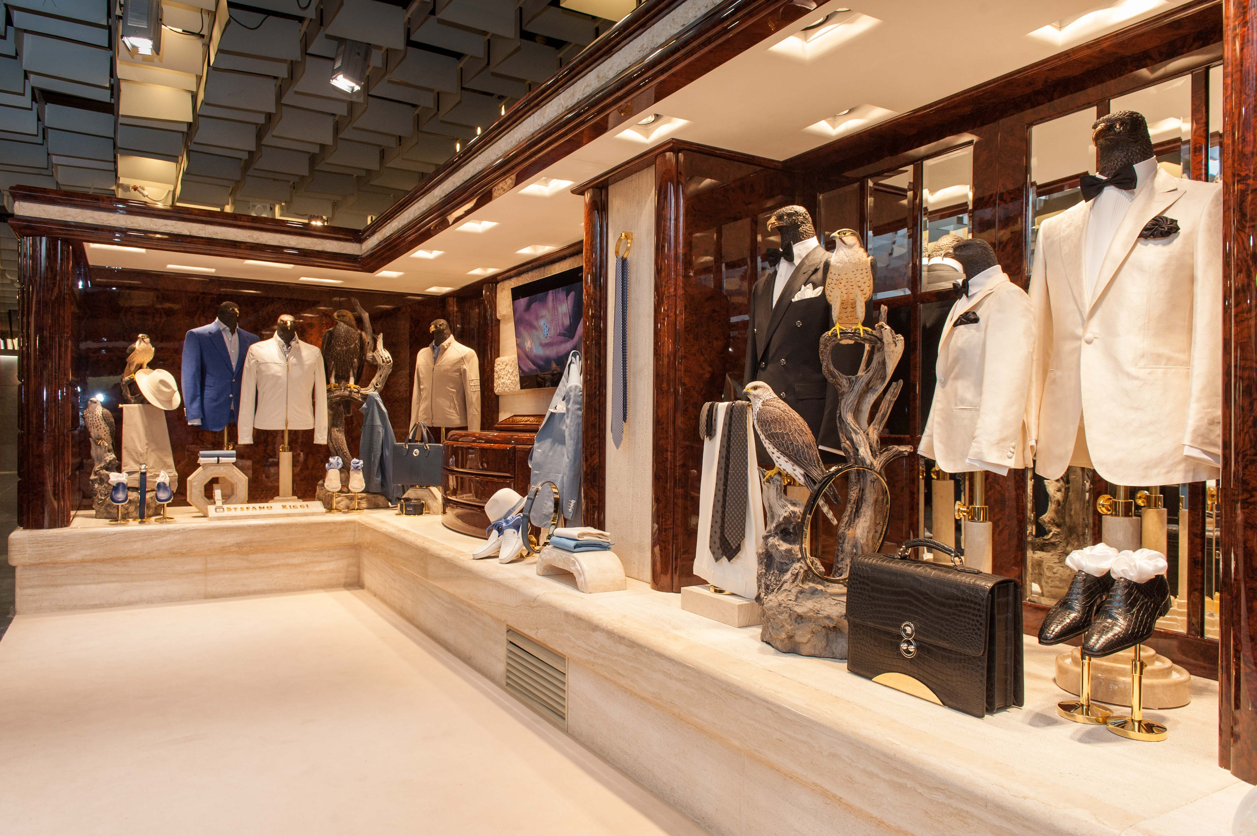 Stefano Ricci's booth at Pitti Uomo in 2018.