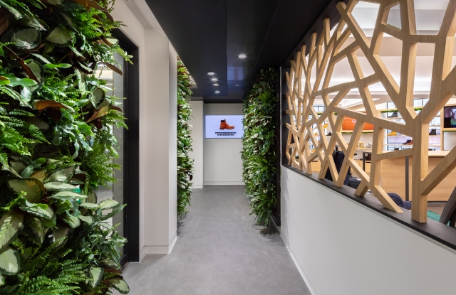 A view of the Timberland floor at VF Corp.'s new hub in London's Soho