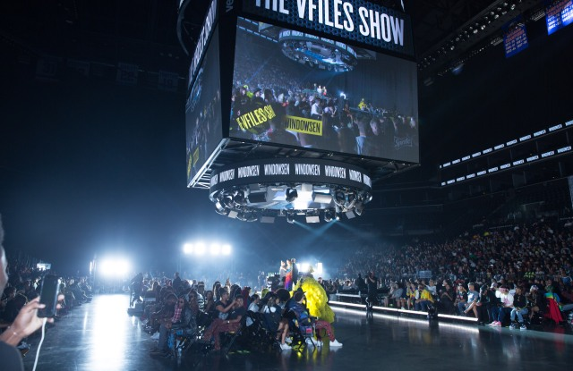 The VFiles show last September at the Barclay Center.