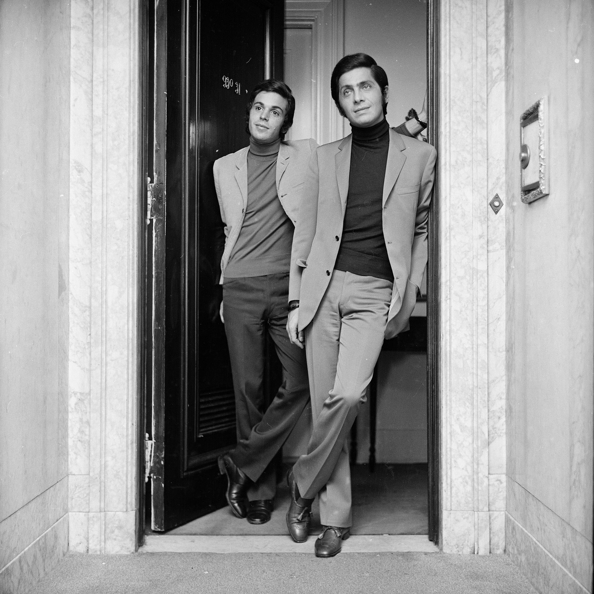 Giancarlo Giammetti and Valentino in 1967.