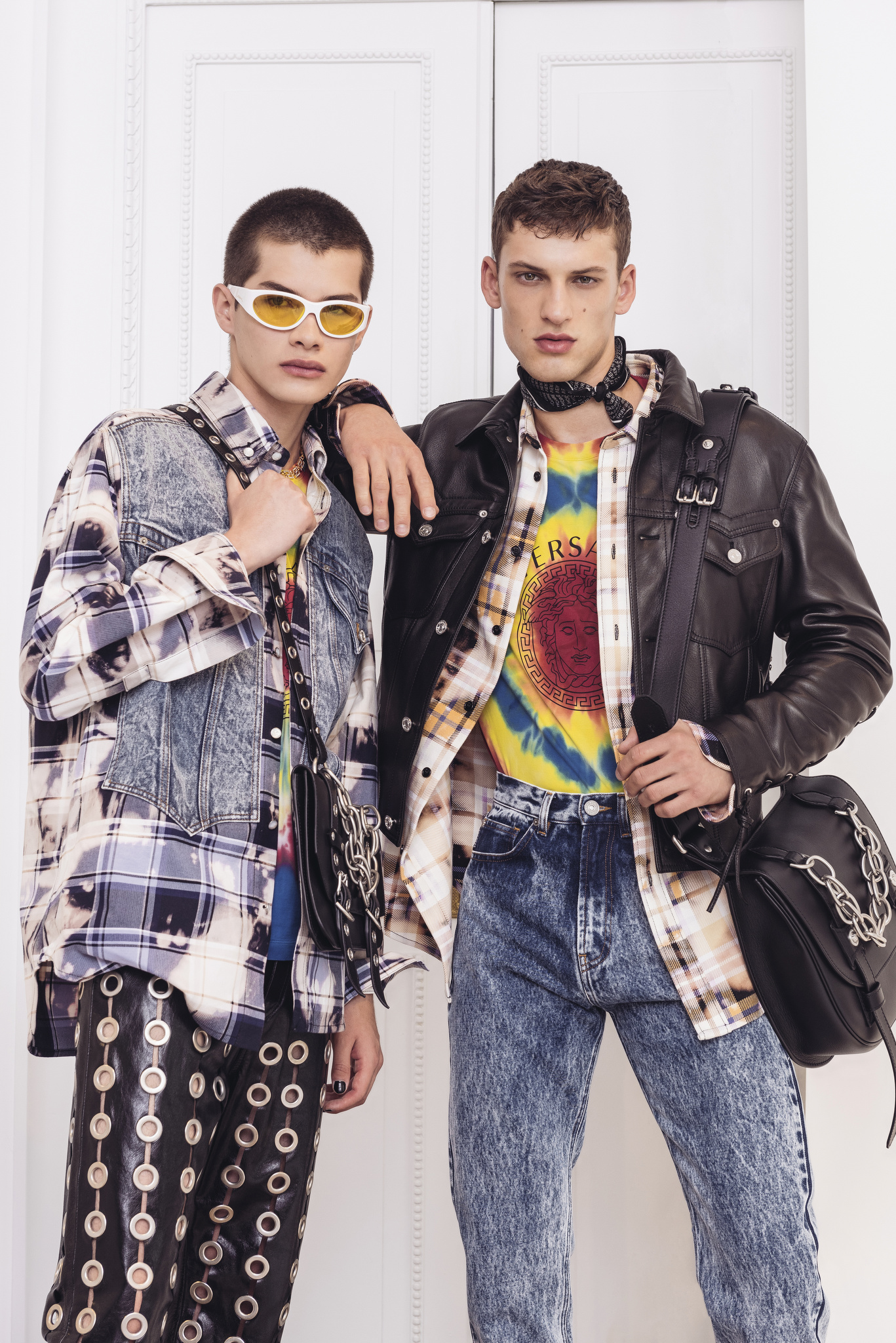 Looks from Versace Men's Spring 2020.