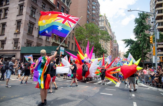 The scene at the World Pride Parade in New York.