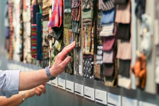 The scene at the 29th edition of textile trade show Milano Unica.