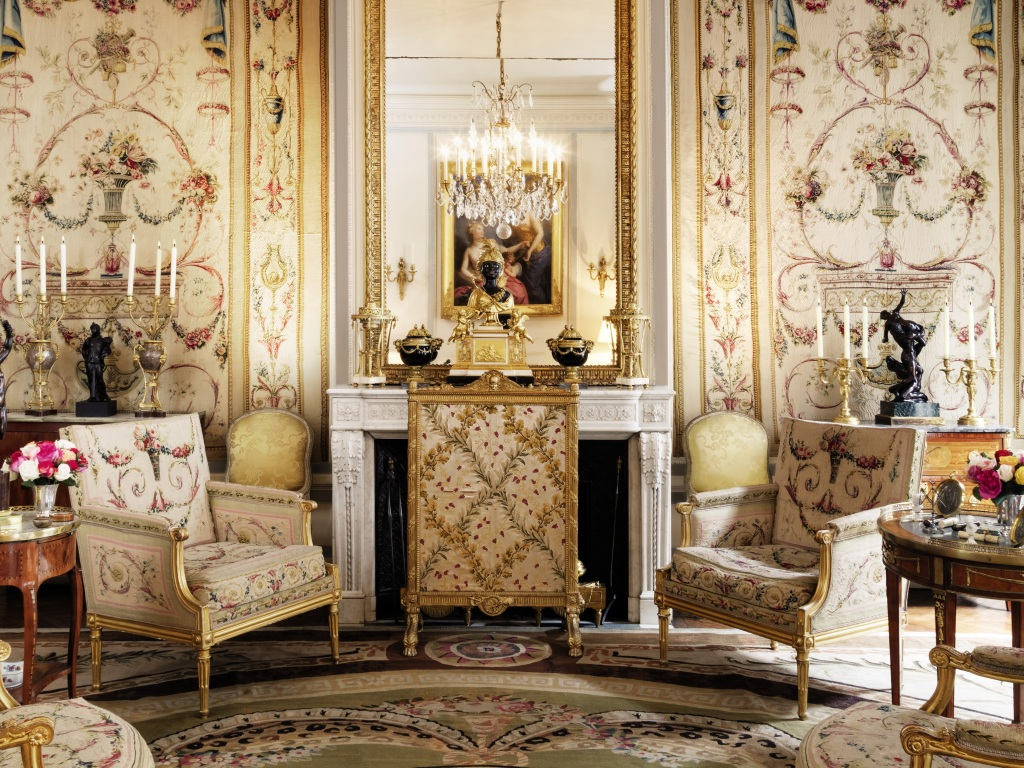 The interior of the mansion of Count and Countess de Ribes in Paris.