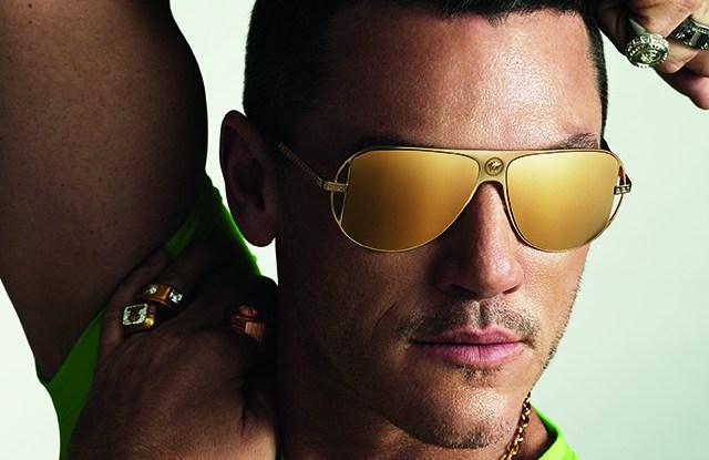 Luke Evans in the Versace Eyewear ad campaign.