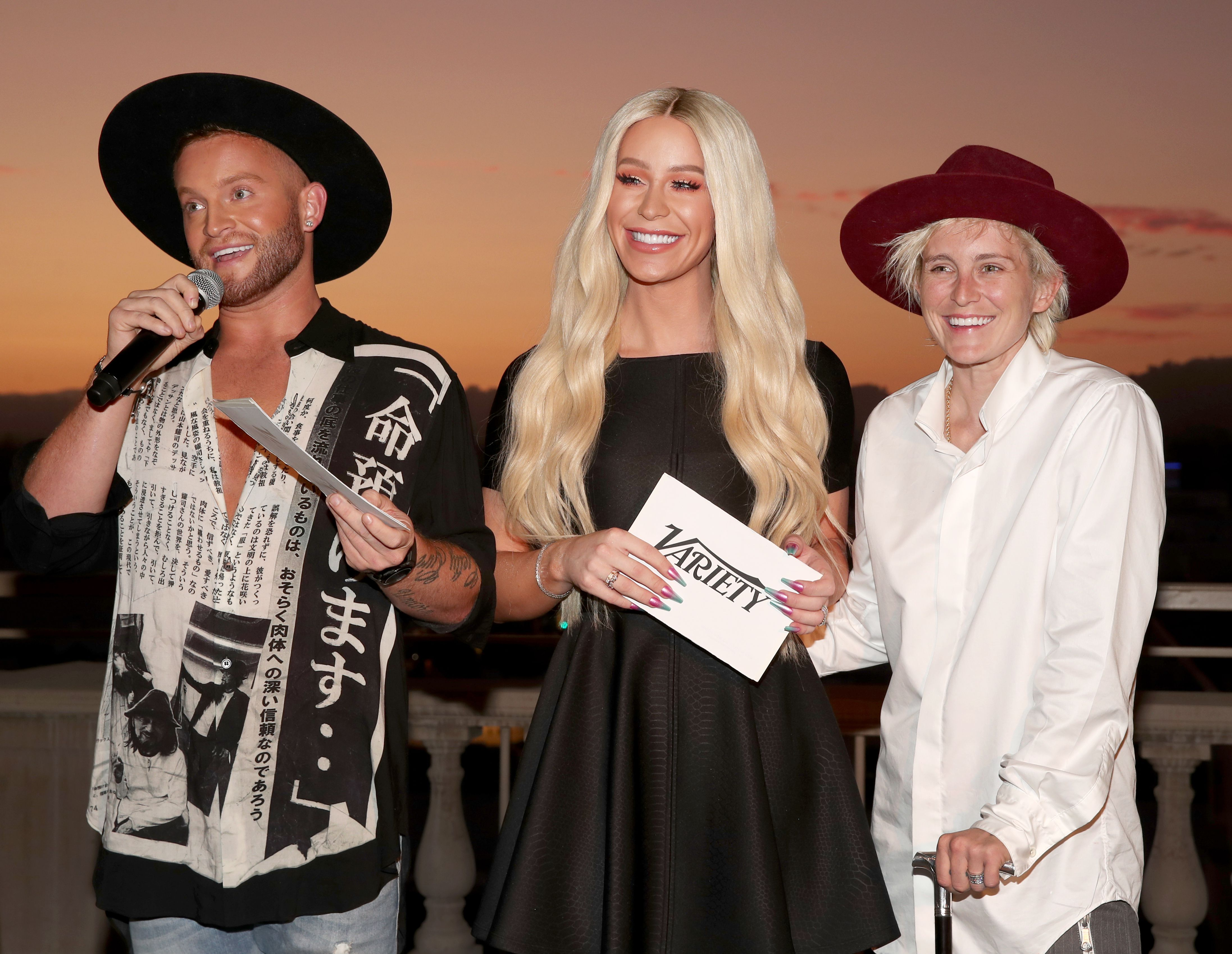 August Getty, Gigi Gorgeous and Nats GettyVariety's Philanthropist of the Year Dinner, Inside, Los Angeles, USA - 30 Jul 2019