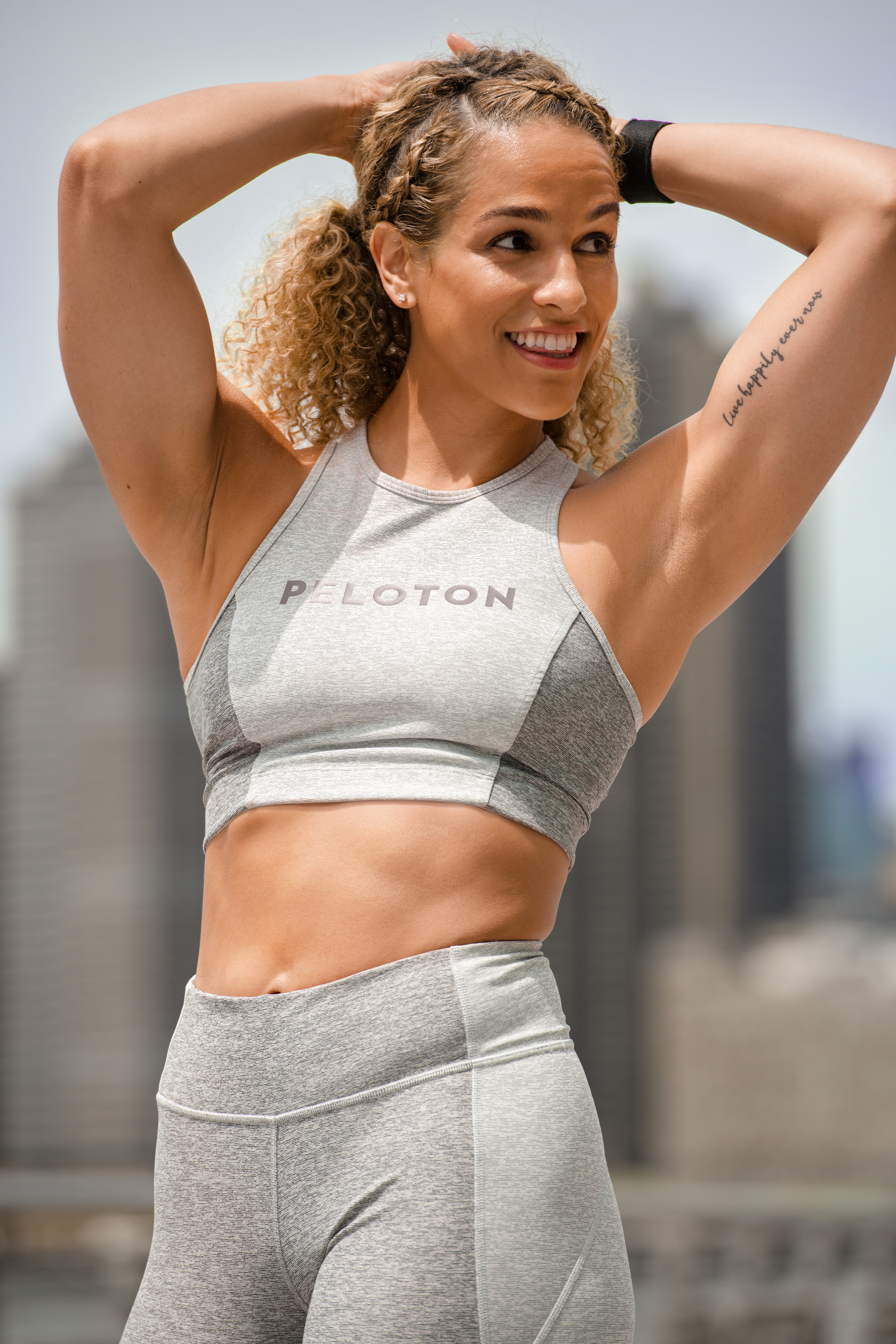 A look from the Outdoor Voices collection for Peloton.