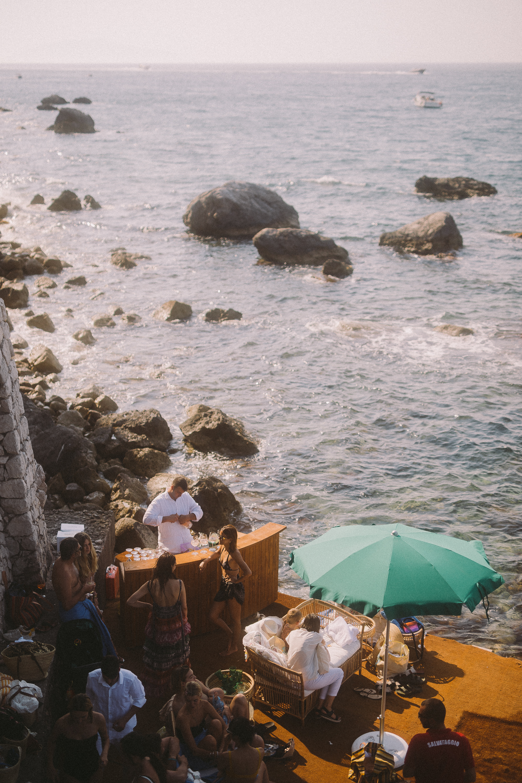 Zimmermann party at Villa Bismarck in Capri