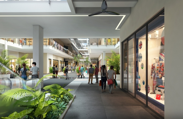 Rendering of a section of the Bal Harbour Shops expansion.