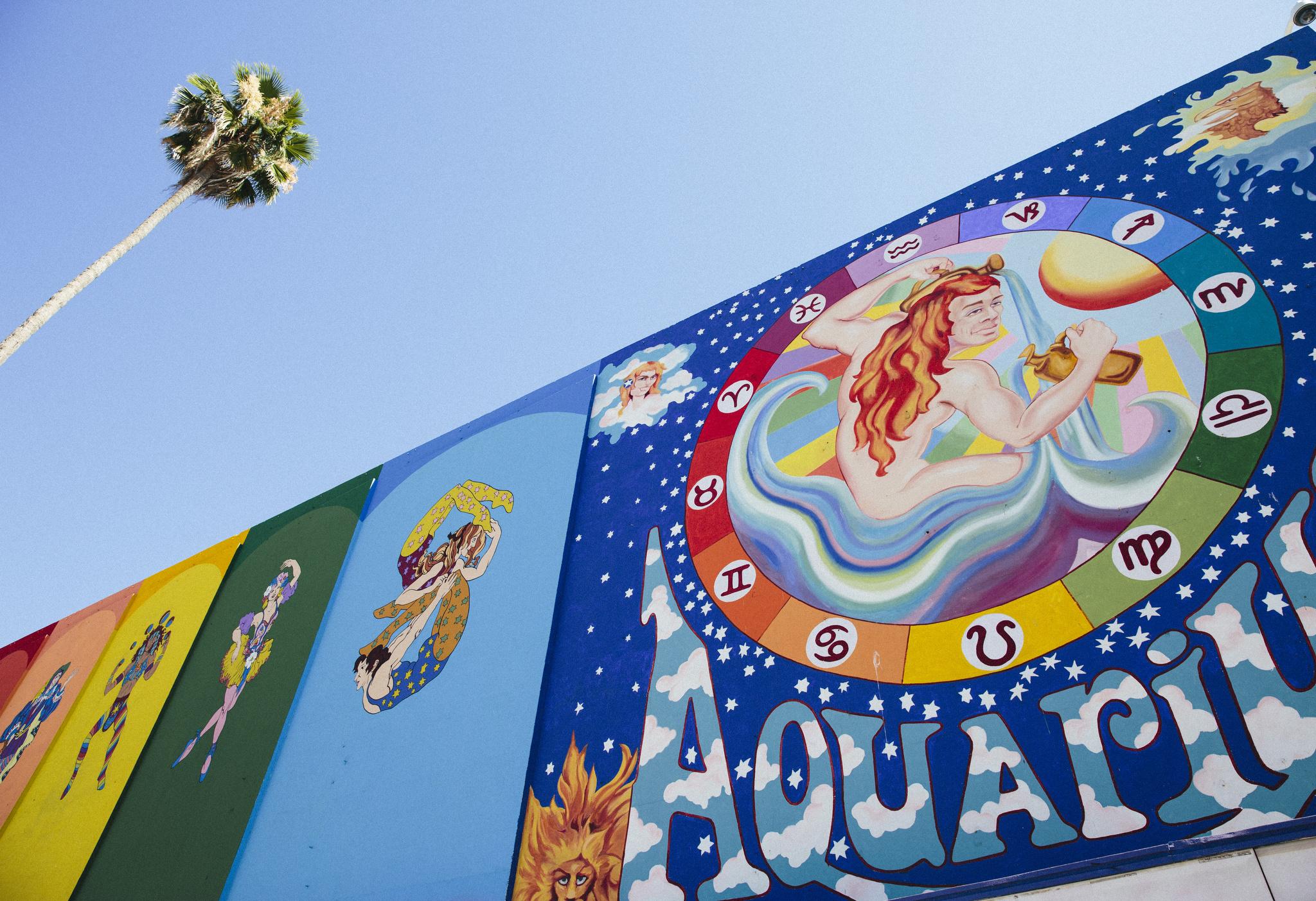 Mural at Aquarius Theatre.