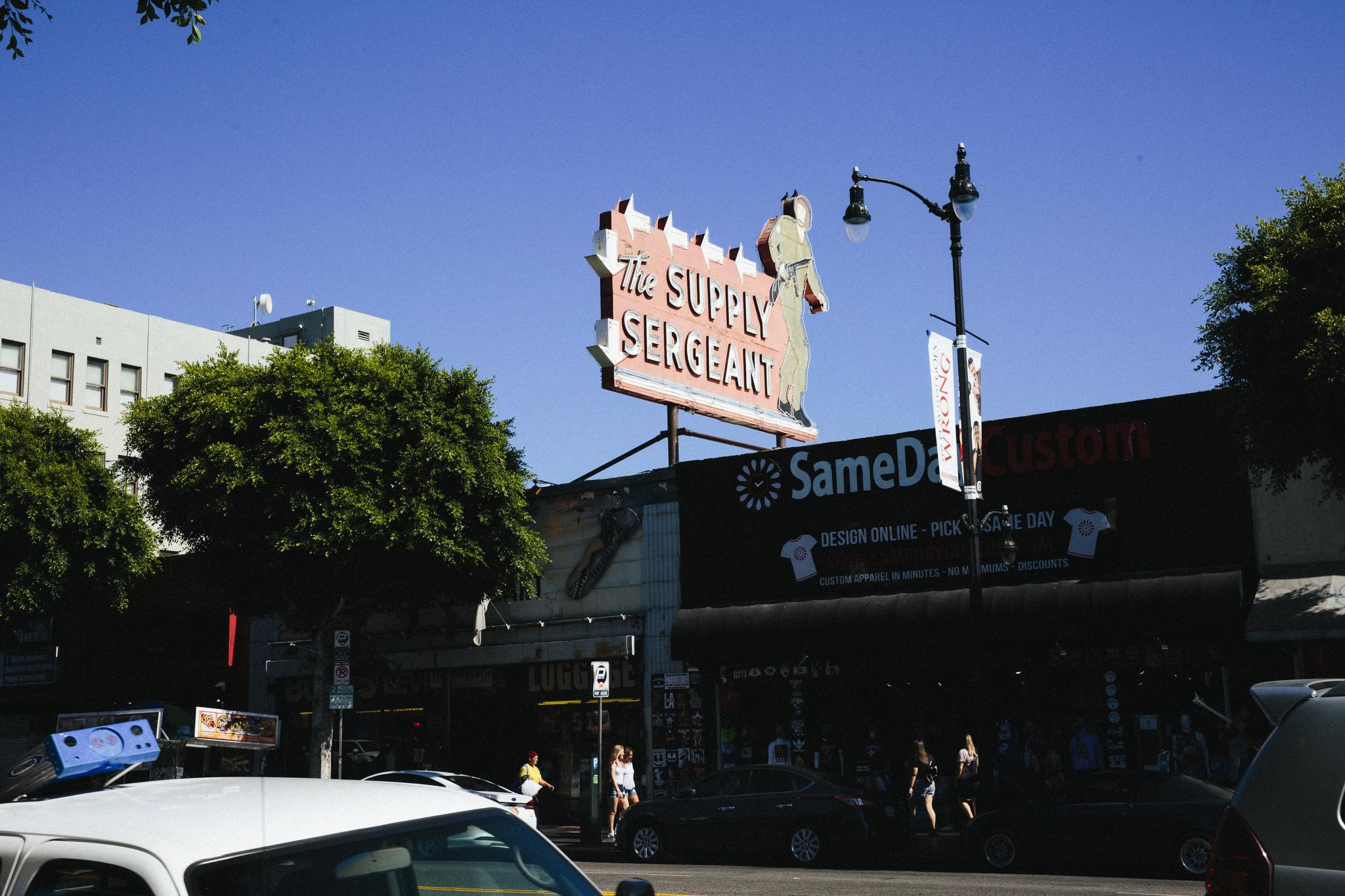 Hollywood boulevard at Cherokee street.