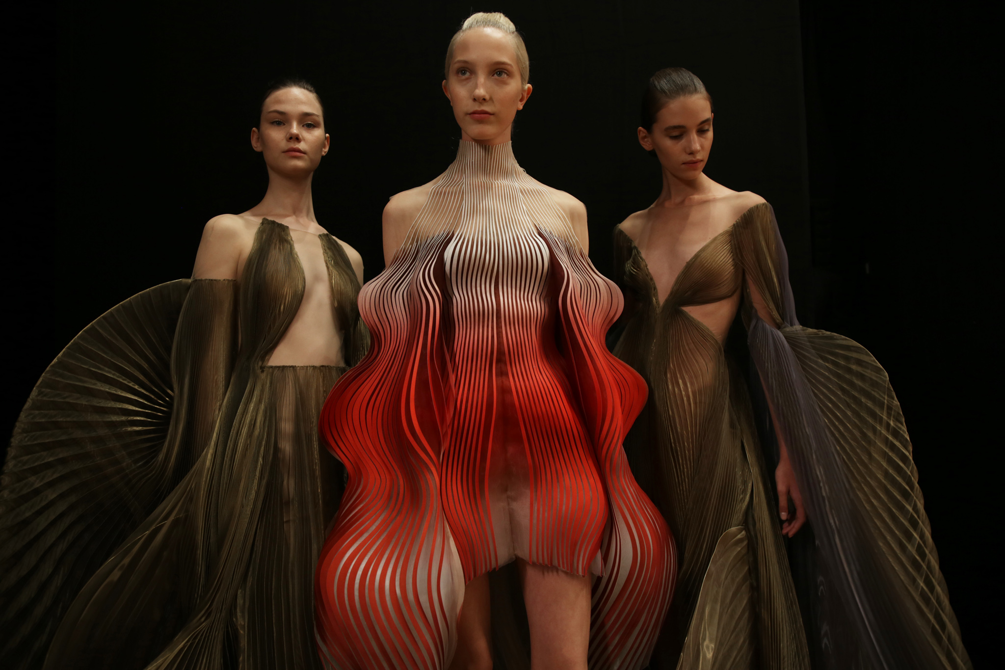 Backstage at Iris Van Herpen  Haute Couture Fall 2019