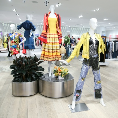 A display of vintage clothes in Neiman Marcus' new Hudson Yards store.
