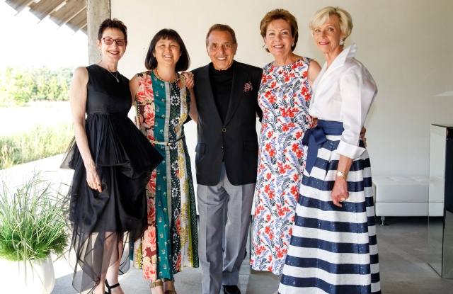 Terrie Sultan, Maya Lin, Leonard Riggio, Louise Riggio, Mary Frank