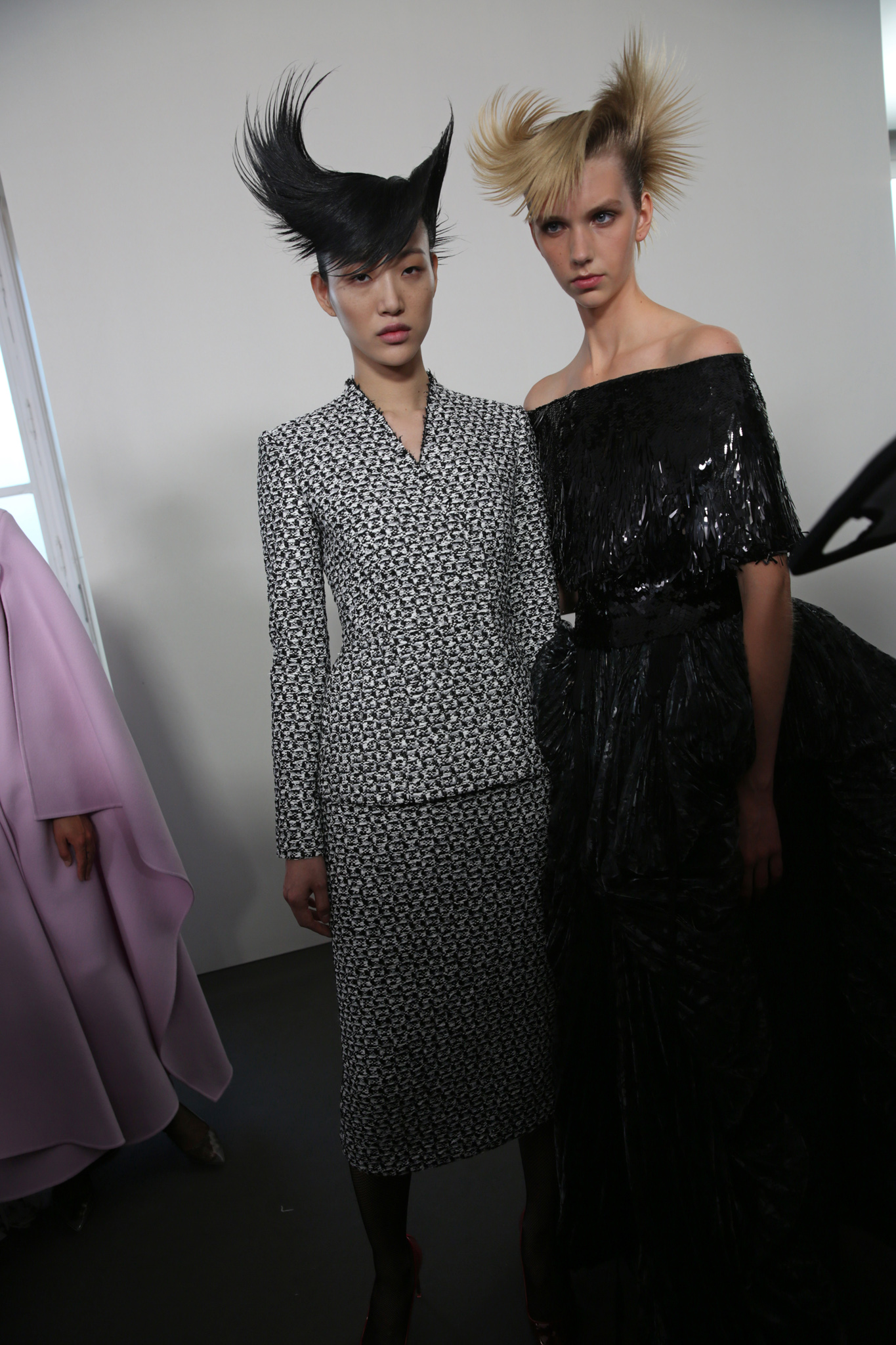 Backstage at Givenchy Couture Fall 2019