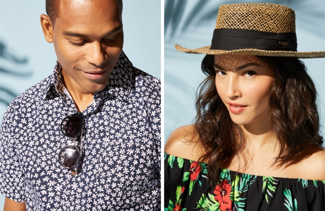 A men's look and women's look from Caribbean Joe.