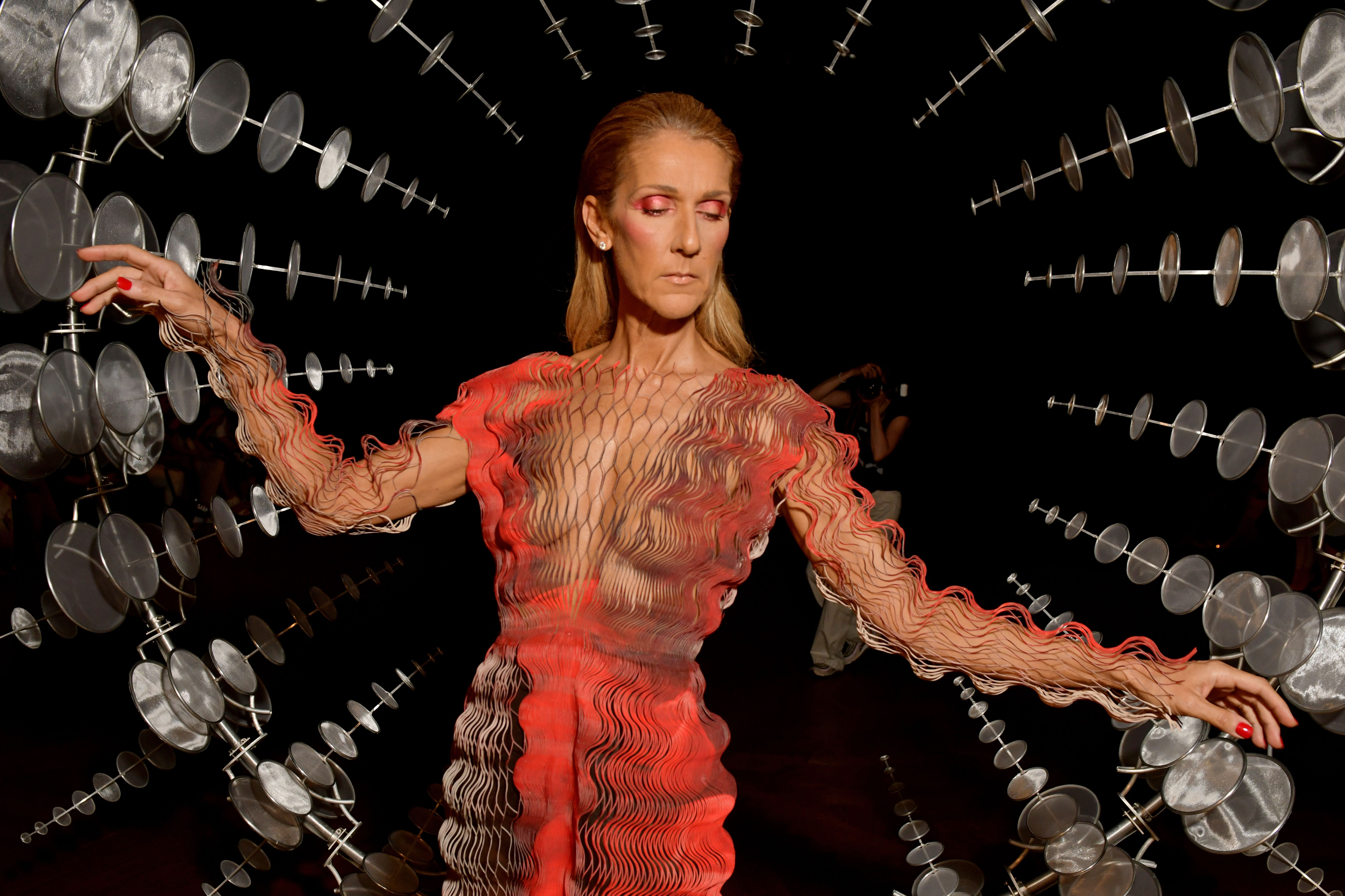 Celine Dion in the front rowIris van Herpen show, Front Row, Fall Winter 2019, Haute Couture Fashion Week, Paris, France - 01 Jul 2019