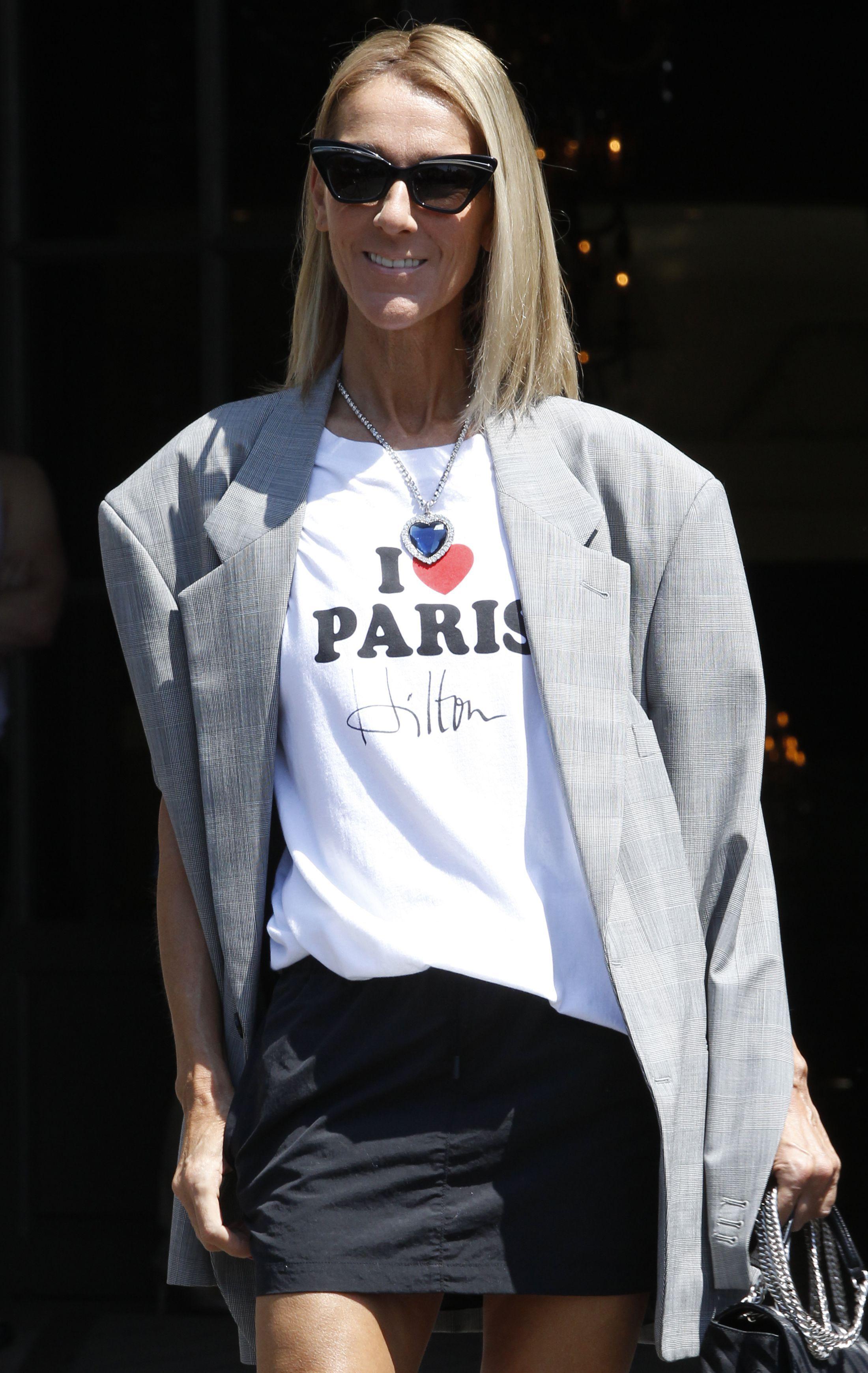 Celine DionCeline Dion out and about, Haute Couture Fashion Week, Paris, France - 03 Jul 2019Wearing Vetements
