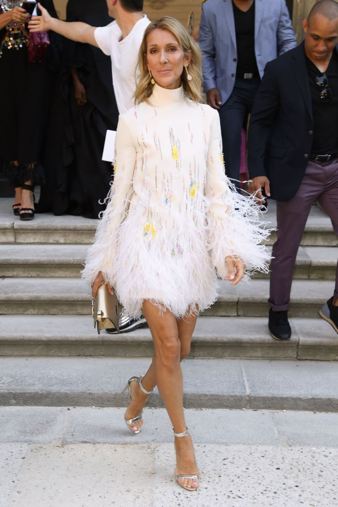 Celine Dion in the front rowValentino show, Fall Winter 2019, Haute Couture Fashion Week, Paris, France - 03 Jul 2019 Wearing Valentino