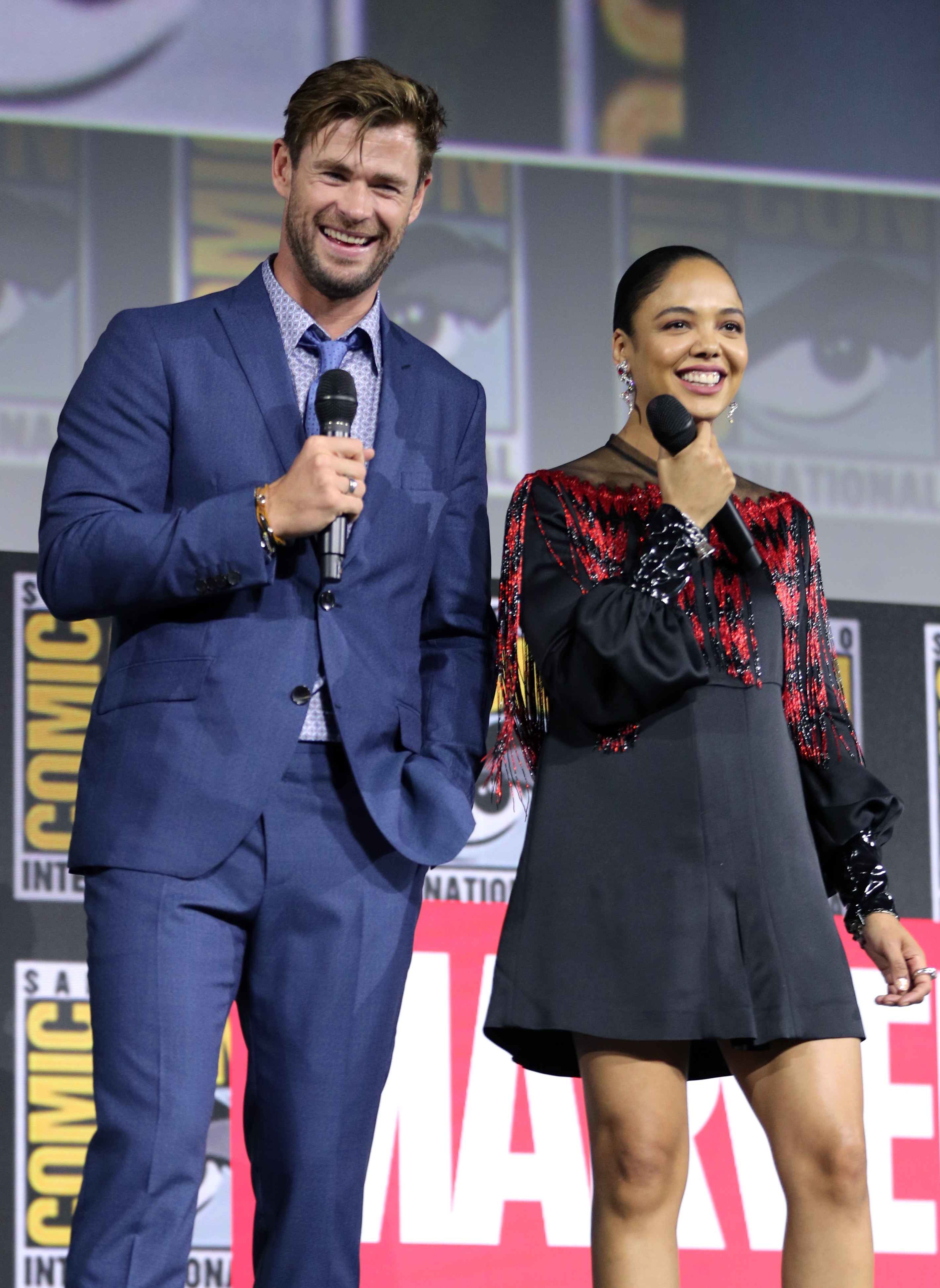 Chris Hemsworth and Tessa ThompsonMarvel Studios panel, Comic-Con International, San Diego, USA - 20 Jul 2019