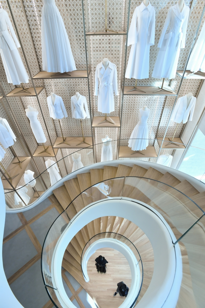 The staircase in the Champs-ElysŽes Dior store.