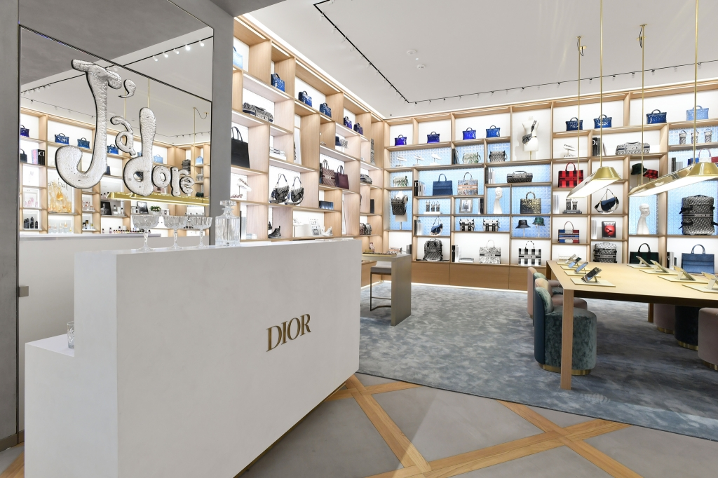 Accessories section in the Champs-ElysŽes Dior store.