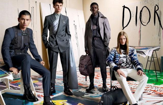 The Dior men's fall campaign.