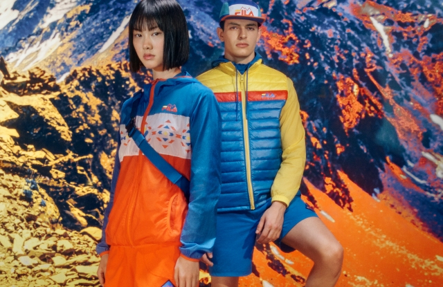 Fila's Explore collection includes the colorful Mountain section.