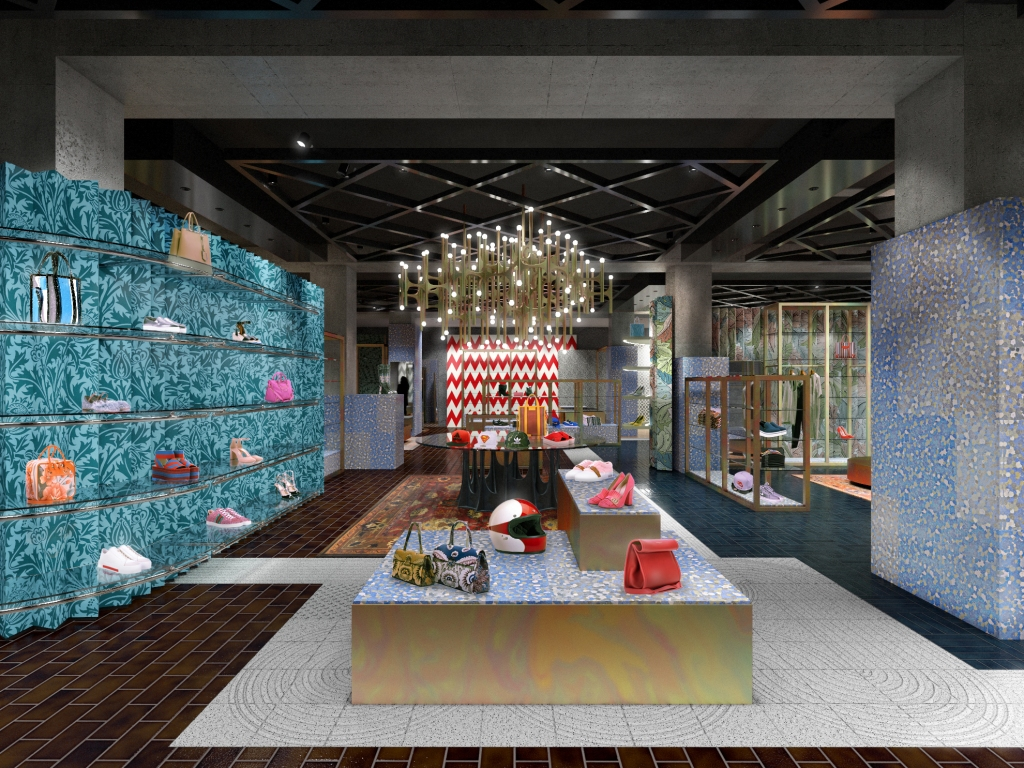 A rendering of the Flannels Oxford Street flagship