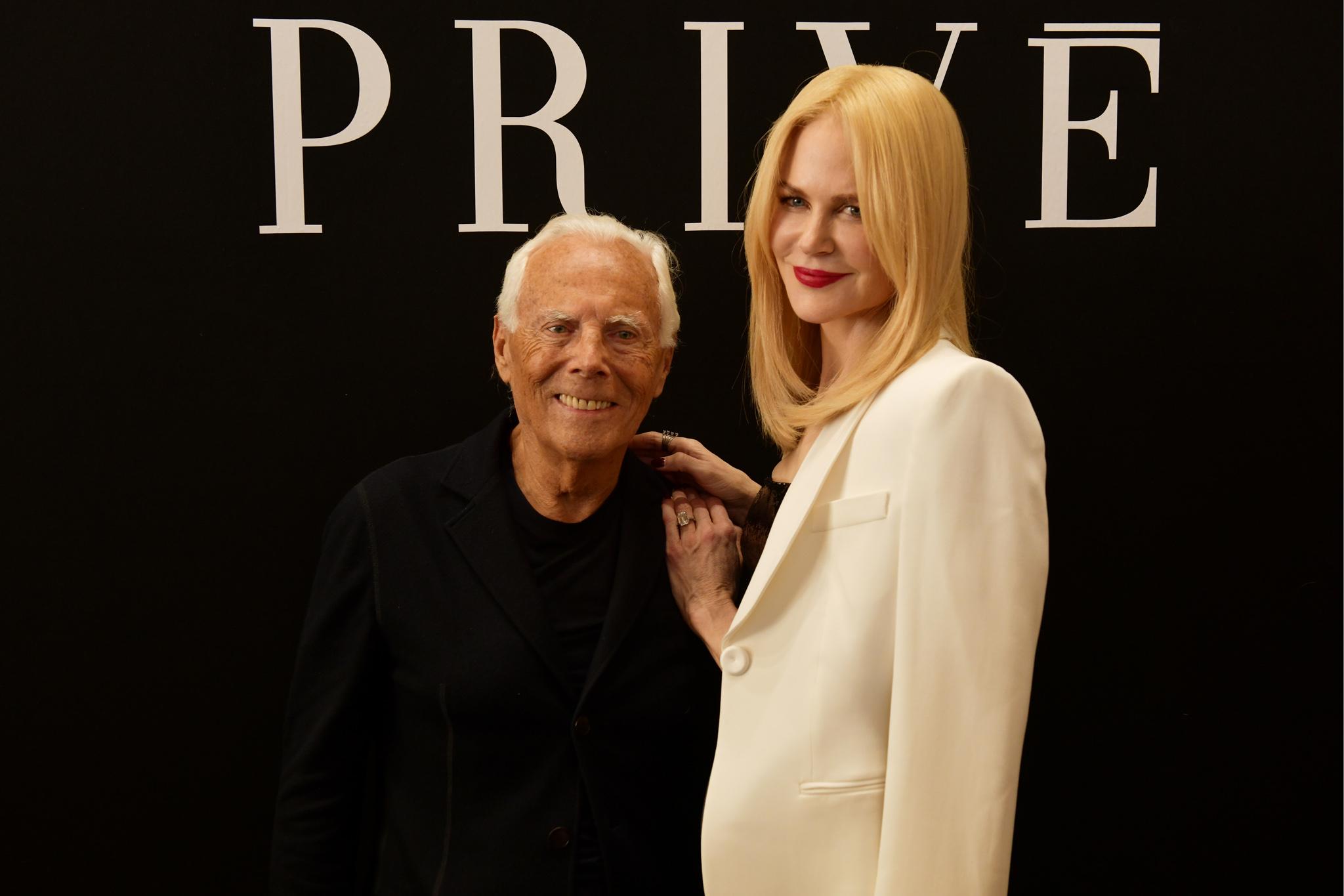 Giorgio Armani and Nicole Kidman